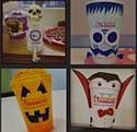 Exemples de créations proposées pour le concours Halloween de Dunkin' Donuts