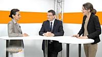 Sophie Heller (ING Direct) et Philippe Quentin (Banque Postale) présentent les stratégies de relation client multicanal de leur entreprise.