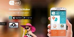 Clic and Walk obtient des informations géolocalisées directement des mobinautes