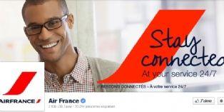 Air France accompagne ses clients 24h/24h et 7j/7 sur les réseaux sociaux