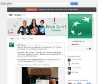 BNP Paribas ouvre son SAV sur Google+