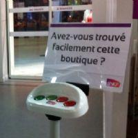 La SNCF évalue la satisfaction client sur des bornes