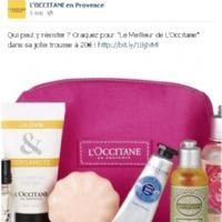 Sur Facebook et Twitter, L'Occitane renforce la proximité avec ses clients