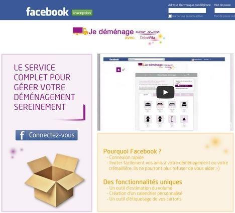 Gdf suez dolce vita facilite le d m nagement sur facebook - Comment organiser son demenagement ...