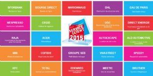 Élu Service Client de l'Année 2015 récompense 29 entreprises