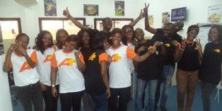Les équipes de Canal + Overseas chez Acticall (Côte d'Ivoire)