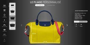 Longchamp invite ses clients à personnaliser ses sacs sur des tablettes en boutique