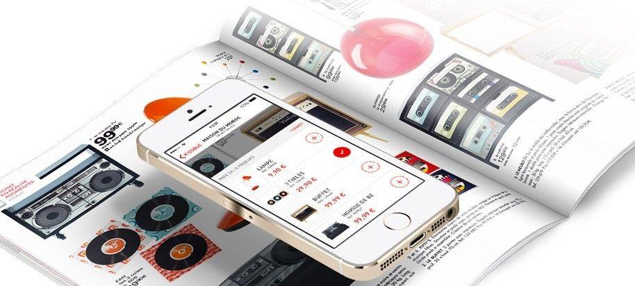 overlay l 39 application qui permet d 39 acheter online depuis un catalogue papier. Black Bedroom Furniture Sets. Home Design Ideas