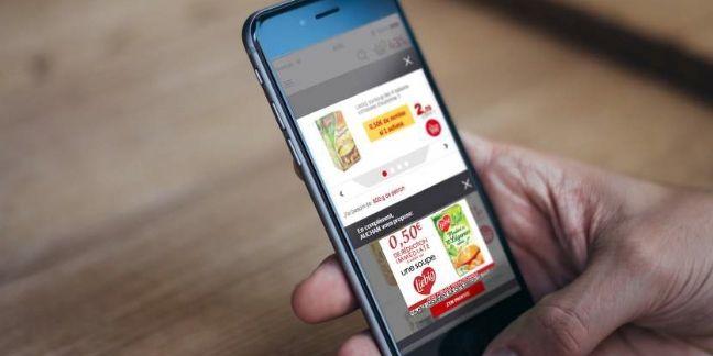 Auchan Drive sort un e-coupon de réduction, ciblé et contextualisé