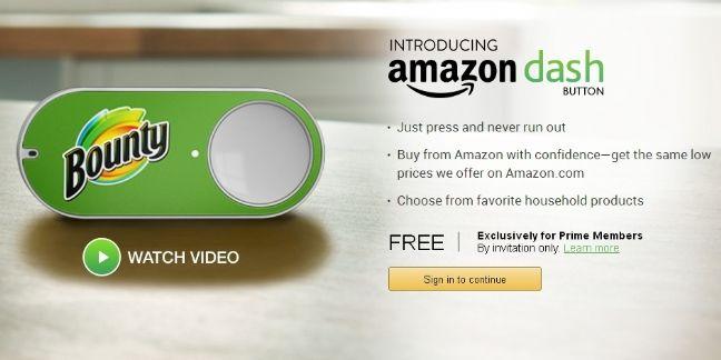 Amazon lance un bouton connecté pour commander en un clic