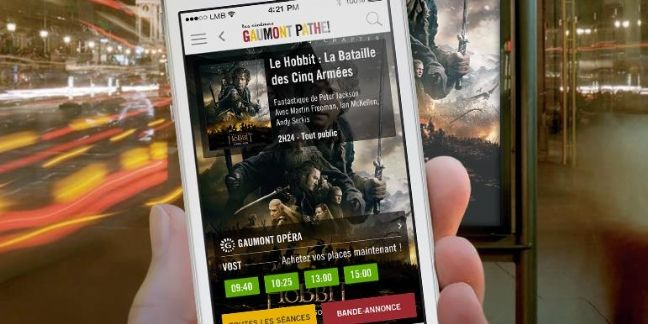 Gaumont Pathé booste ses ventes mobile grâce à son appli