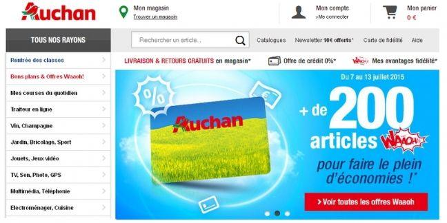 """Auchan.fr lance le service """"retrait encombrant"""""""