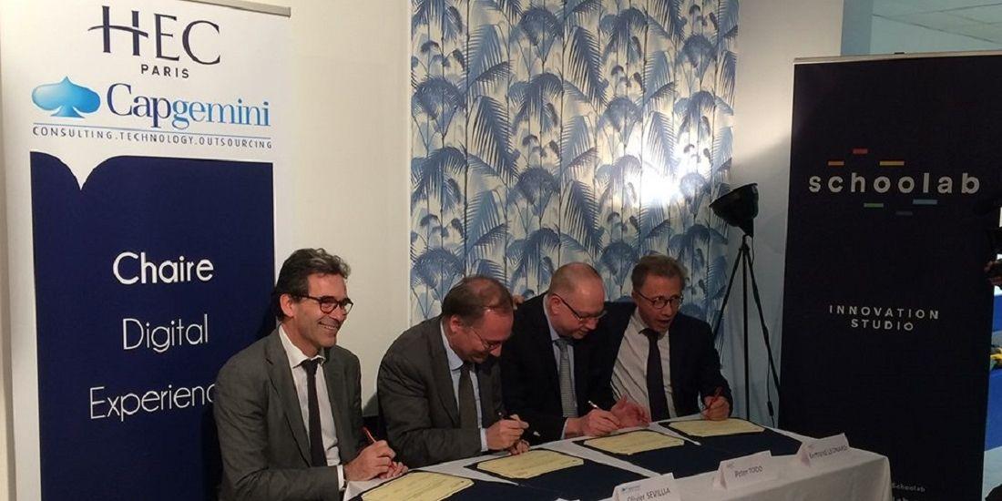 Capgemini et HEC Paris créent une chaire 'digital experience'