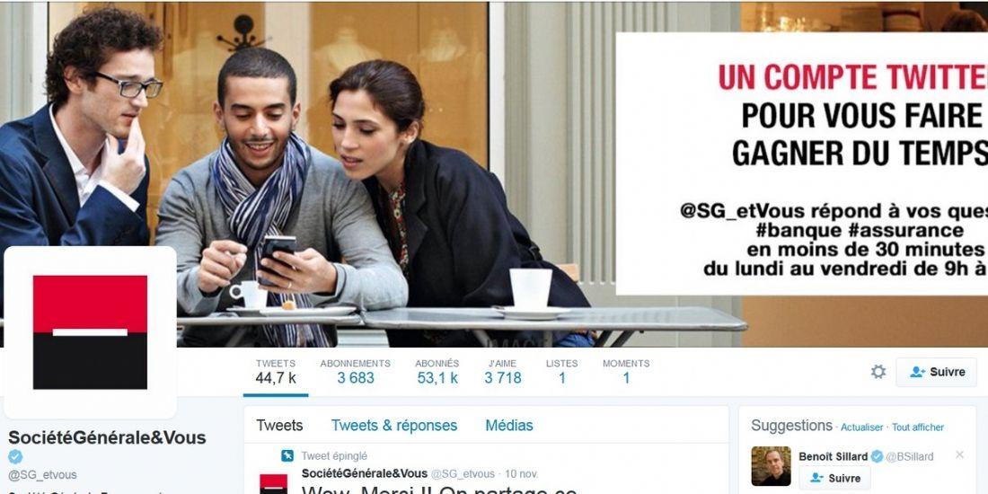 Société Générale : 'Twitter est une brique à part entière de la relation client'