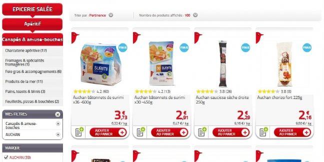 Auchan Drive invite les clients à noter ses produits