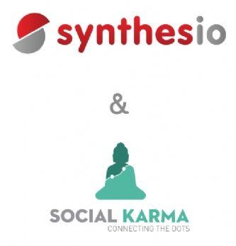L'équipe de Social Karma avec au centre son CEO Thierry Soubestre.