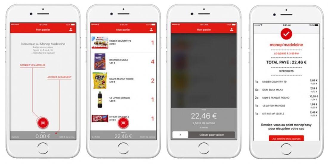 Snapp' lance l'application Monop'easy, pour un supermarché sans caisse