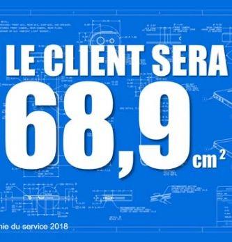 [TENDANCE 4] Le client sera 68,9 cm2