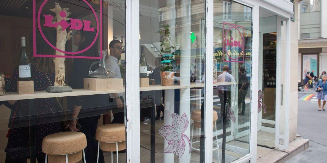 Lidl ouvre son pop-up store dédié au vin