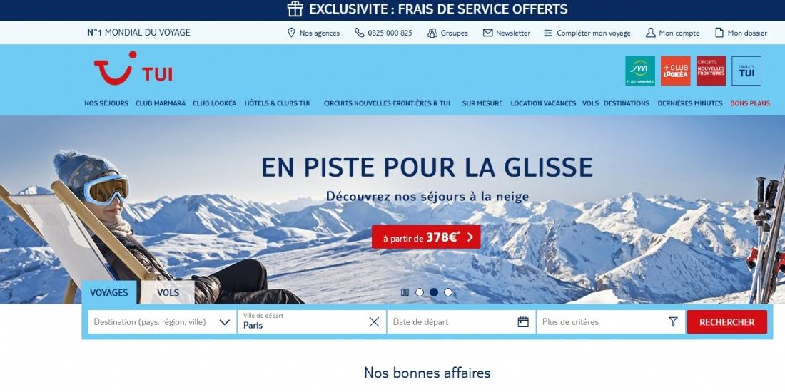 TUI.fr, nouvelle boutique multi-enseignes