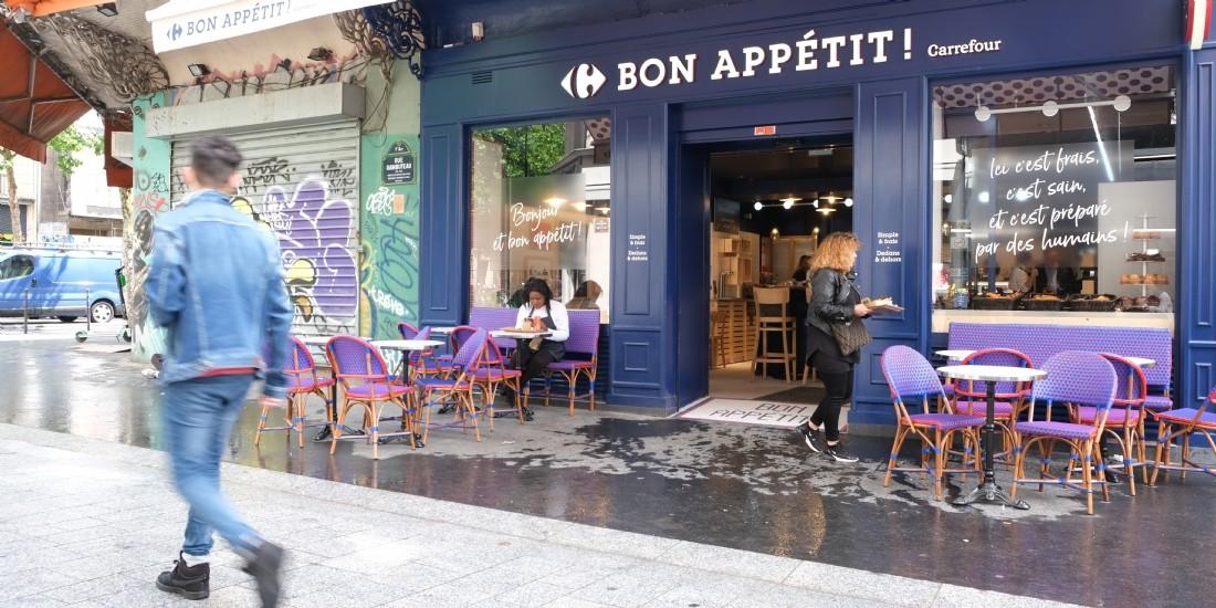 Carrefour inaugure un restaurant à Paris