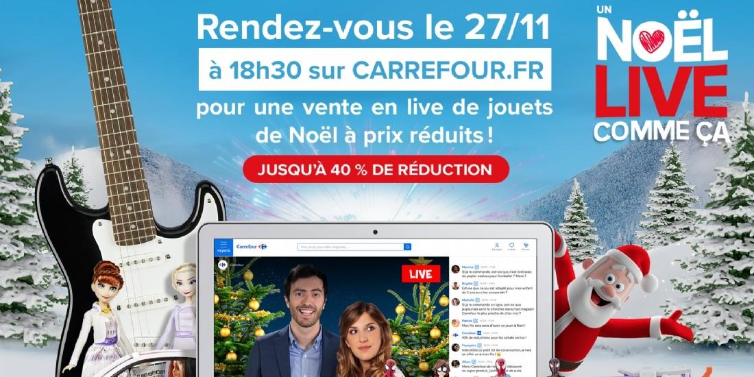 Carrefour se lance dans le live shopping