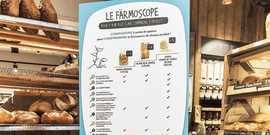 Plus complet que le Nutri-score, le Färmoscore belge