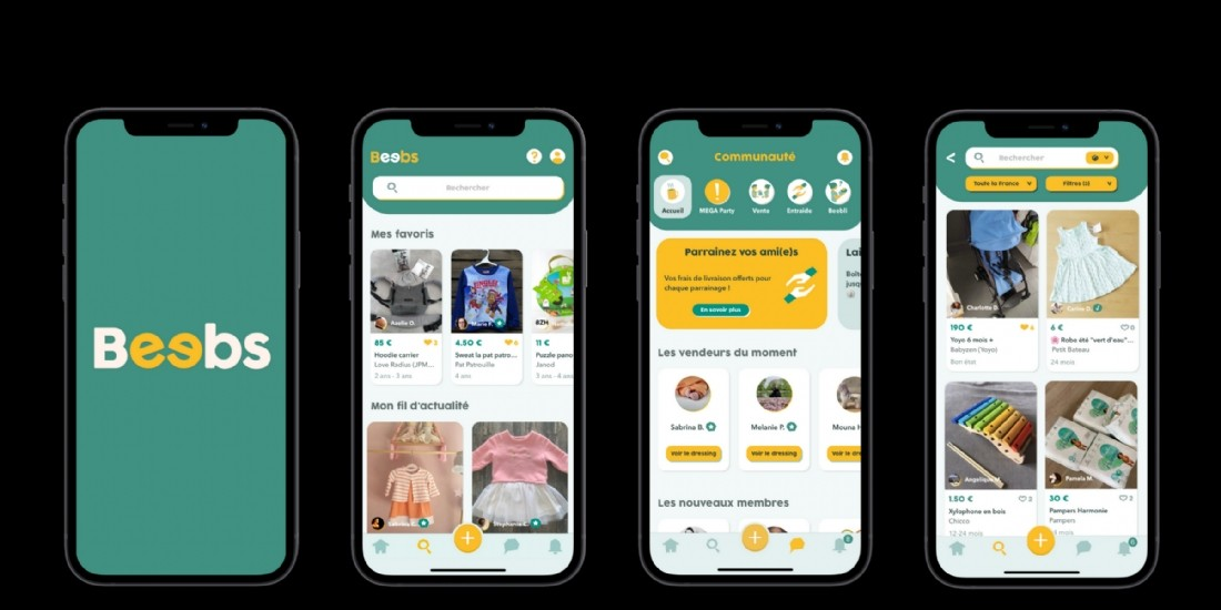 La start-up Beebs, application d'achat et revente dédiée à l'univers de l'enfance, lève 3 millions d'euros