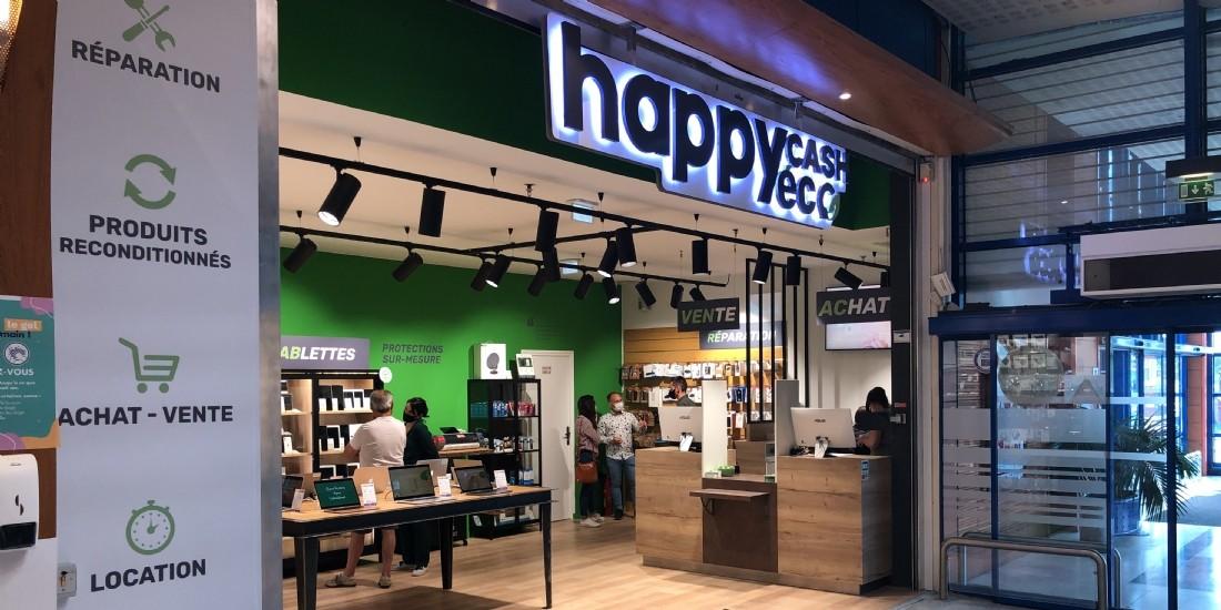 Happy Cash présente Happy Cash Éco, espace de reconditionnement